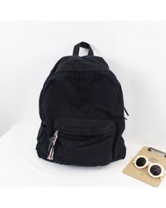 Korean style casual canvas backpack, simple retro large capacity travel backpack