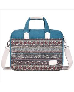 Ethnic style one-shoulder portable diagonal bag, three-purpose computer bag 13 14 15 inch notebook canvas bag